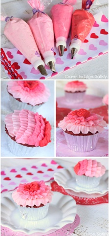 How to make ombre ruffle cupcakes.