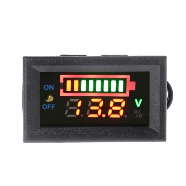 12v Car Lead Acid Battery Capacity Indicator Voltmeter Power Tester With Switch Newest Review Lead Acid Battery Car Led Lithium Battery