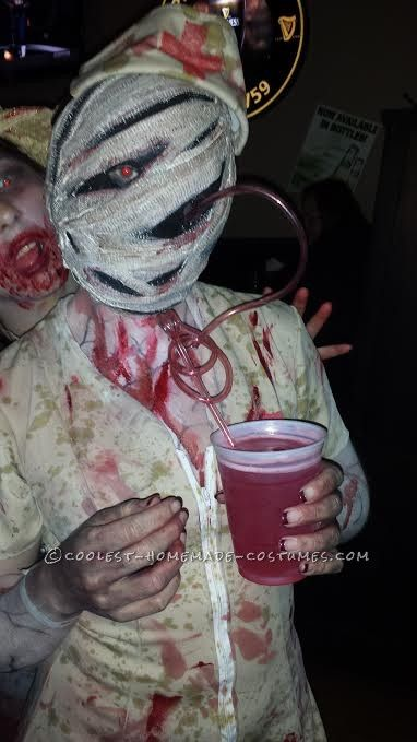 bobble head silent hill nurse costume entirely homemade halloween queen scary - Quick Scary Halloween Costumes