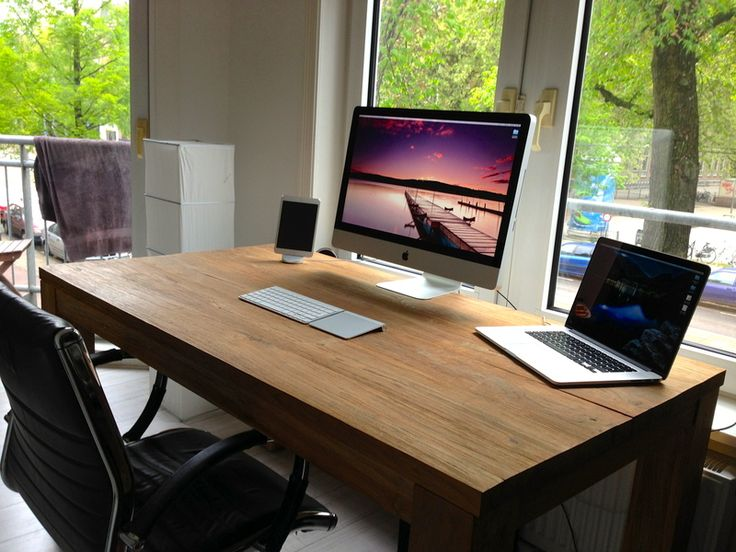 IDutchmans Equipped Workspace 27 IMac15 RMBPiPad MiniHercules XPS 101 Speakers Behind Desk SetupComputer SetupInterior Design