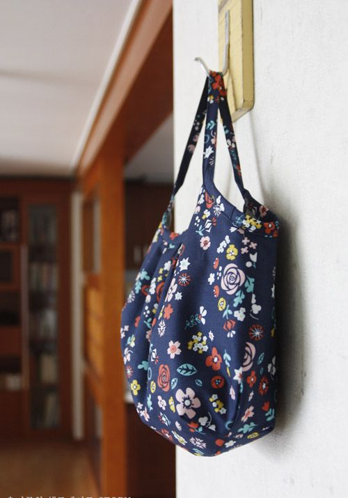 Reversible Hobo Tote Bag. How to sew DIY Picture Tutorial.  Сумка Хобо. МК.