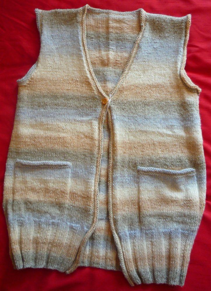 Ladies Hand-knitted DK Waistcoat