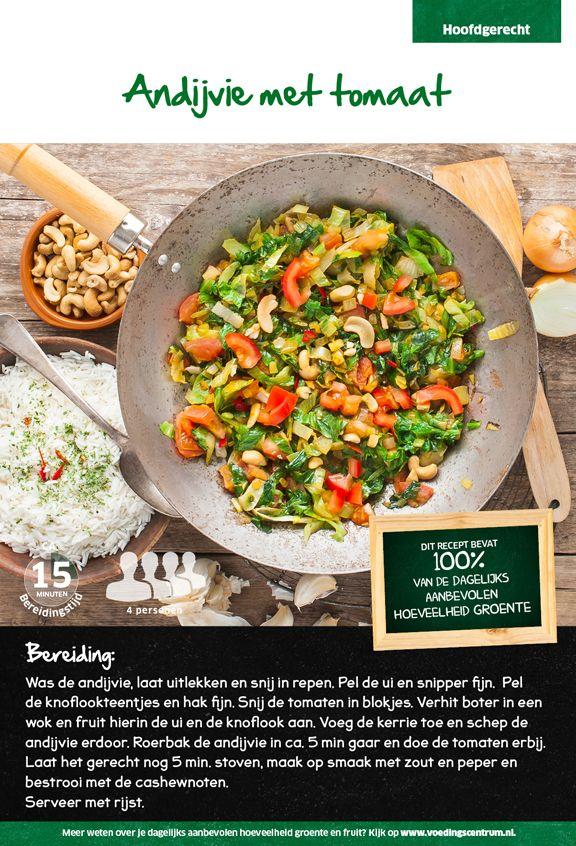 Recept voor andijvie met tomaat #Lidl