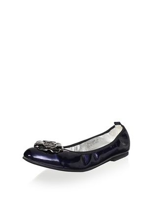 65% OFF Venettini Kid's Janet Flat (Mid Blue Patent)