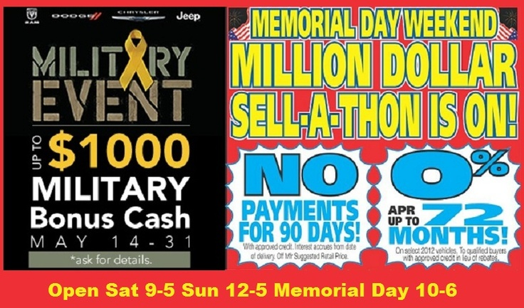 memorial day vehicle sales