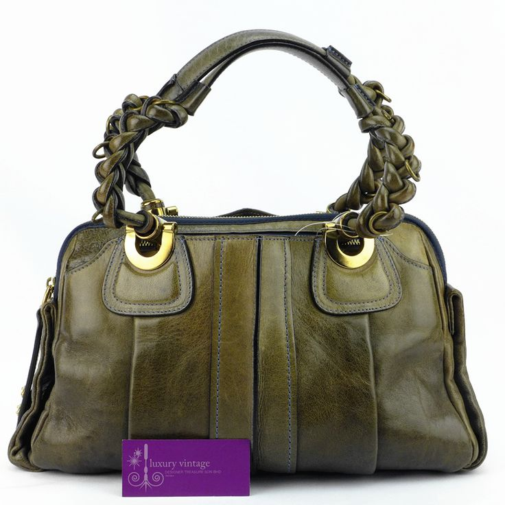 Chloe Heloise Bag Dark Green Color Leather With Gold Hardware Good ...