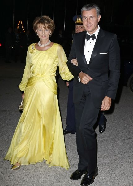 The Greek Royal Family and several members of their extended family and from other royal families attended the Golden Wedding Anniversary Celebrations of King Constantine II and Queen Anne-Marie of Greece.2014.09.18. Crown Princess Margareta of Rumaina and Prince Radu.