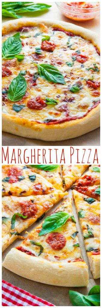 Learn how to make the BEST Margherita Pizza! Click through for the recipe (includes crust and sauce).