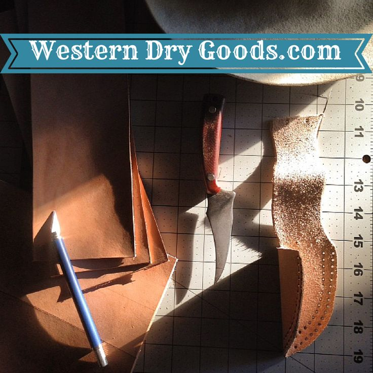 Custom Knife Sheath Design and Construction.  Check out other Leather goods at www.WesternDryGoods.com.