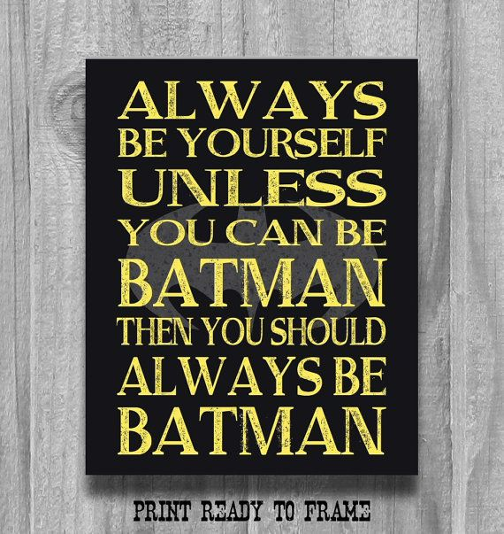 Boys Room Decor Alway Be Yourself... Super by PrintsbyChristine
