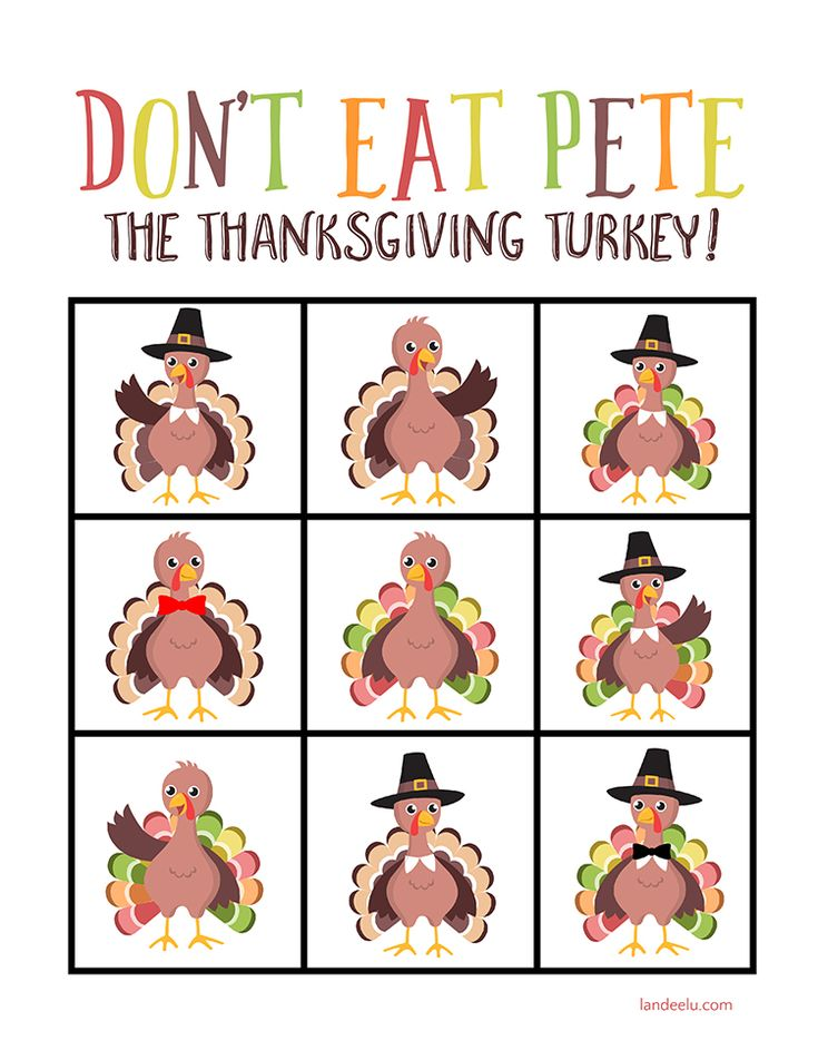 Download and print this fun Thanksgiving Game in 2 minutes and keep the kids entertained while you get dinner on the table!