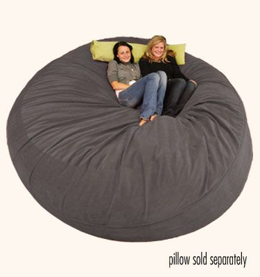 large bean bag chair 8 ft sack micro suede chocolate i see one of these in my near future for my reading nook - Oversized Bean Bag Chairs