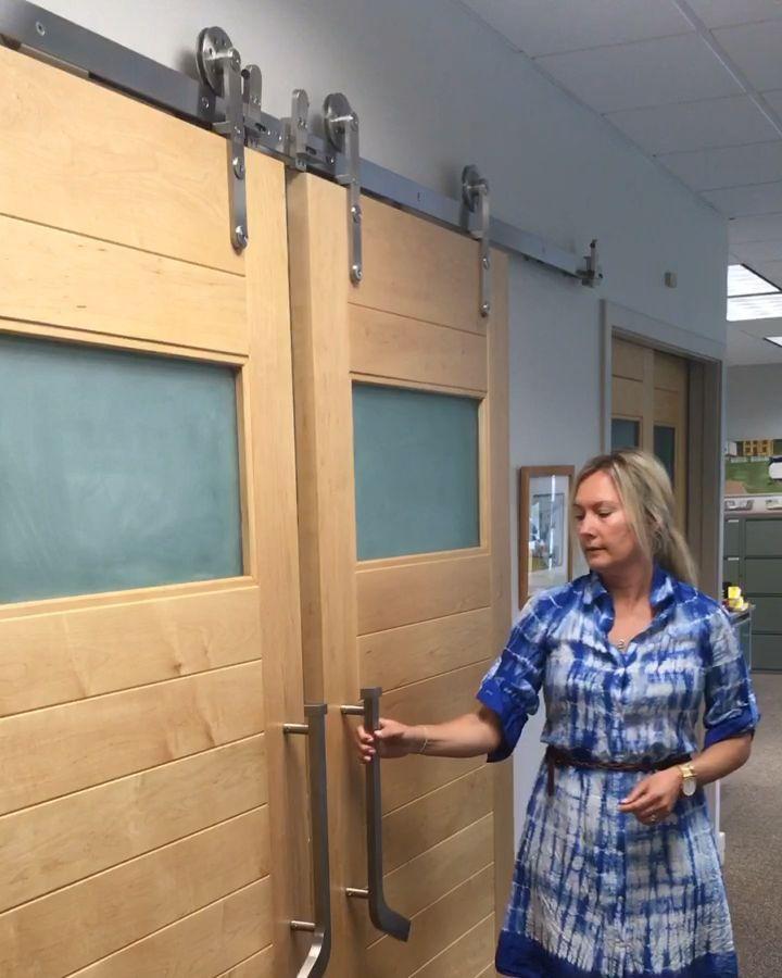 Soooo Easy Self Closing Doors Barn Doors Sliding Sliding Door Design Barn Door Designs