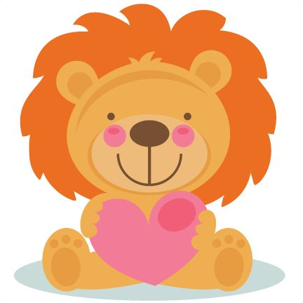 Cute Valentine Lion scrapbook cuts SVG cutting files doodle cut files for scrapbooking clip art clipart doodle cut files for cricut free svg cuts