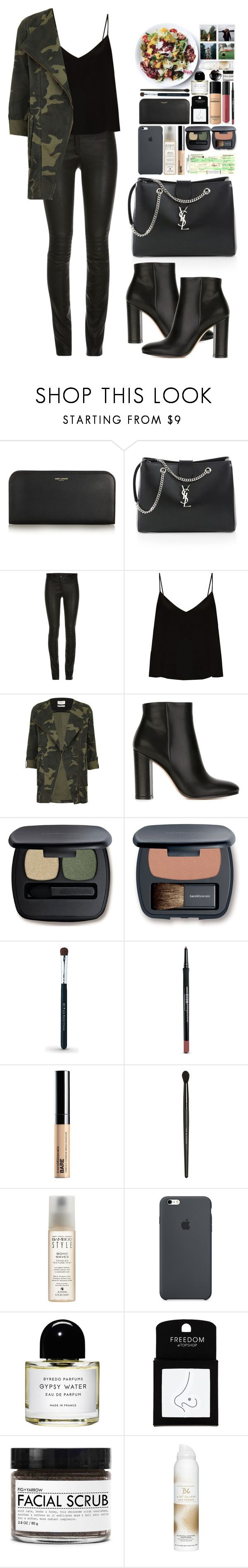 """""""Unpredictable"""" by vanessasimao ❤ liked on Polyvore featuring Yves Saint Laurent, ElleSD, Raey, Parka London, Gianvito Rossi, Bare Escentuals, Alterna, Byredo, Topshop and Fig+Yarrow"""