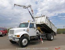 International 4900 S/A Dump Truck 5K Knuckle Boom Crane Allison A/T Diesel PTO
