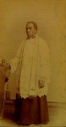 Servant of God Augustus Tolton (April 1, 1854 - July 9, 1897), baptized Augustine Tolton, was the first Roman Catholic priest in the United States publicly known to be black when he was ordained in 1886. (James Augustine Healy, ordained in 1854, and Patrick Francis Healy, ordained in 1864 were of mixed-race.) A former slave who was baptized and reared Catholic, Tolton studied formally in Rome. He was ordained in Rome on Easter Sunday at the Cathedral-Archbasilica of St. John Lateran.