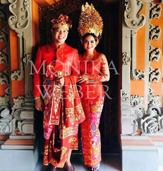 The supreme red balinese bride kebaya