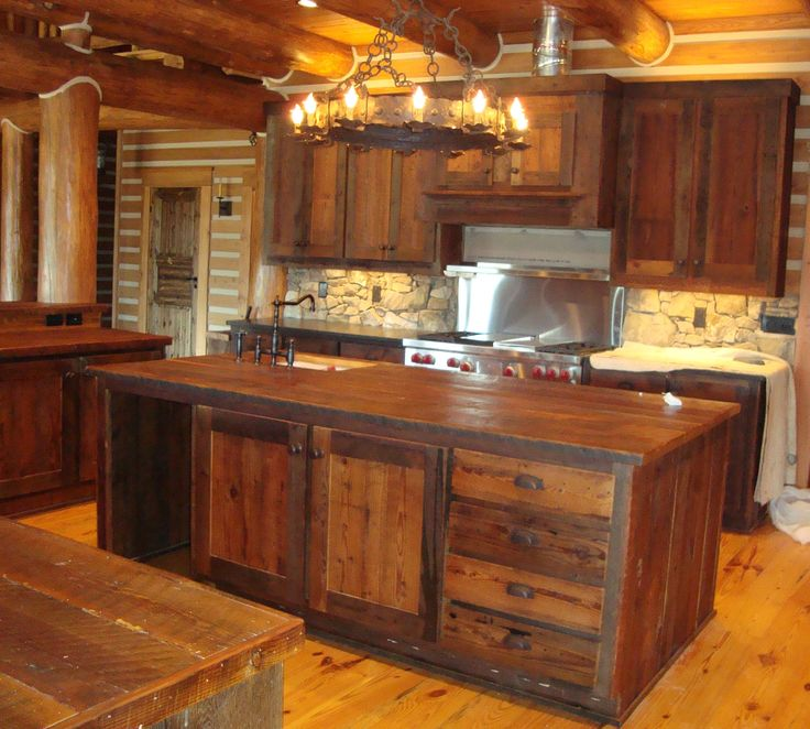 Rustic Cabinets | Rustic Recovered Barnwood Cabinets