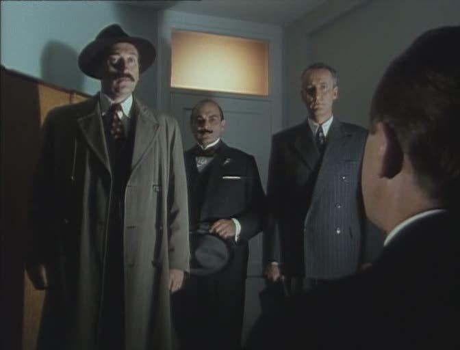 Inspector Japp (Philip Jackson), Hercule Poirot, and Cpt Hastings, opionator.wordpress.com