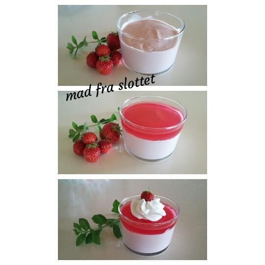 Jordbærfromage med gele