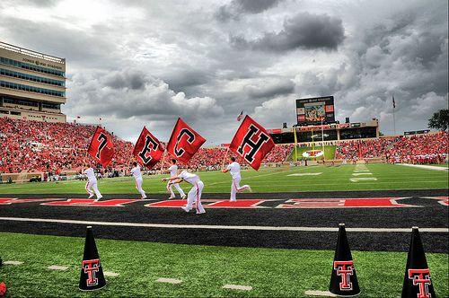 Texas Tech University Lubbock Texas Red Raiders Cheerleaders.  GUNS UP!