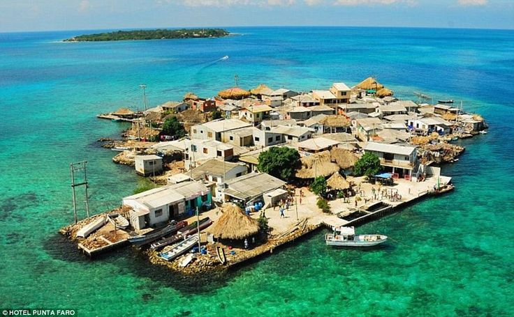 Despite measuring just 0.004 sq mi, 1,200 people have somehow managed to squeeze on to Santa Cruz del Islote. The Caribbean islet two hours from Cartagena, Colombia, is four times more densely populated than Manhattan