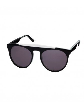 Smoke & Mirrors Black & White Sunglasses - Shop the chicest pieces under $500:   http://shop.harpersbazaar.com/in-the-magazine/great-finds/