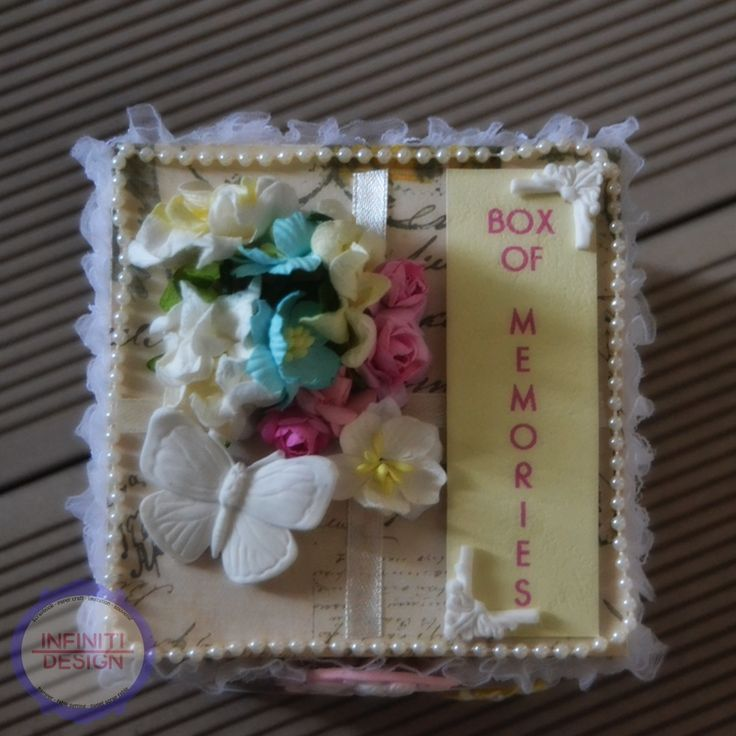 "shabby chic exploding box for valentine's day using DCWV ""Prime Rose"" stack"