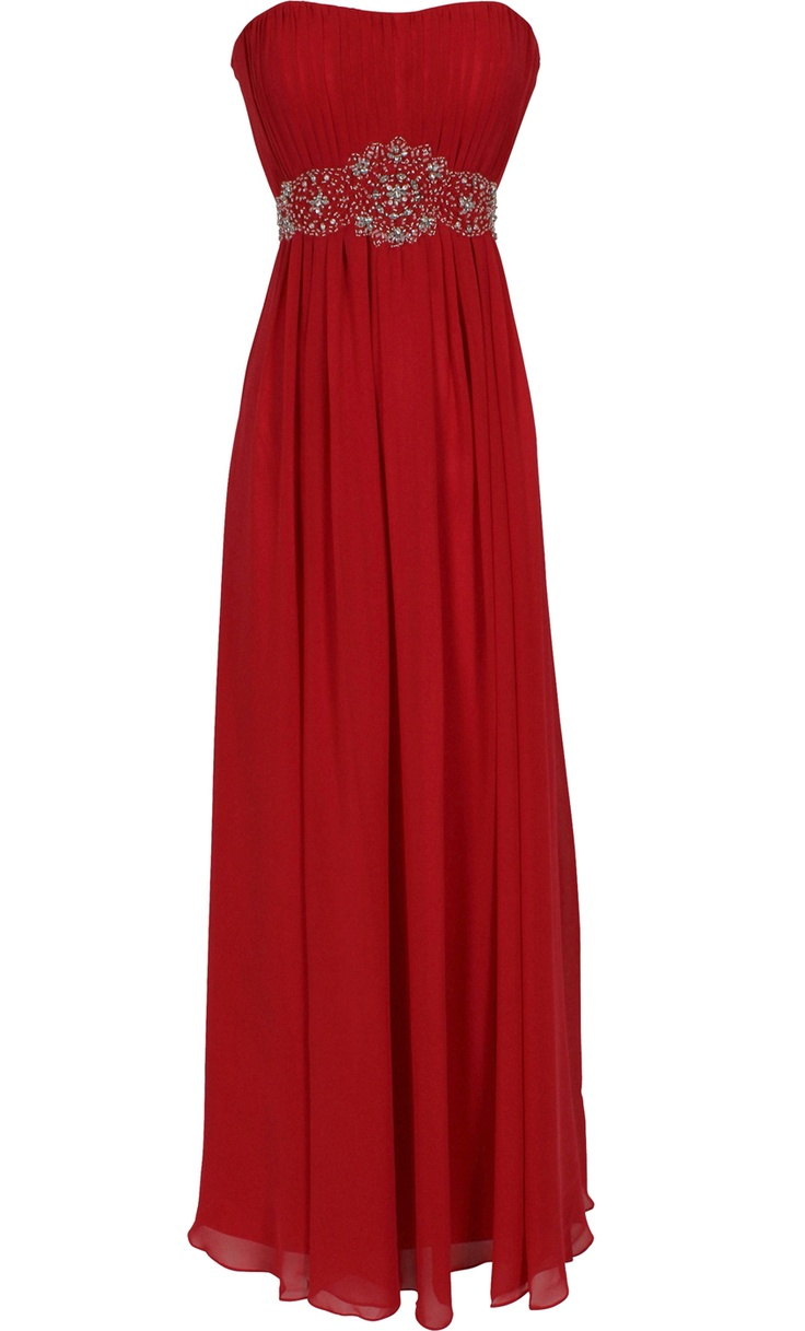 Strapless Chiffon Goddess Long Gown Dress