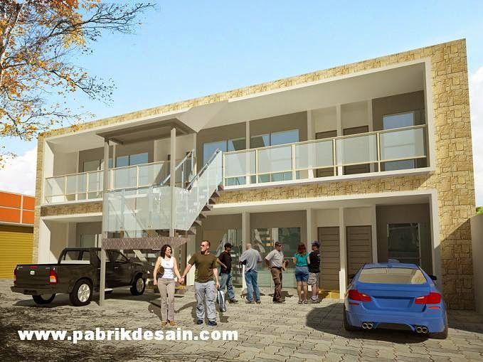 Jasa Desain Ruko Minimalis Modern: Desain Rumah Kontrakan 2 Lantai 10 Pintu Terbaru