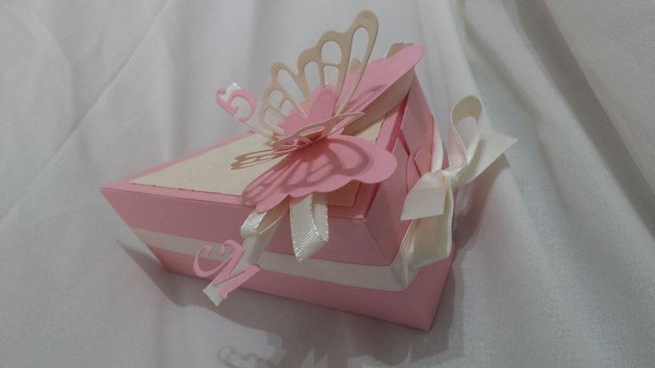 torta di bomboniere (particolare fetta)
