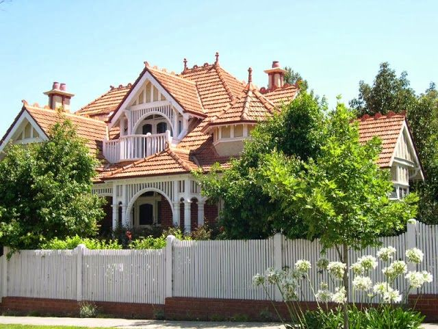 Home Exteriors - Terracotta Roof Tiles - Australian Federation Style House
