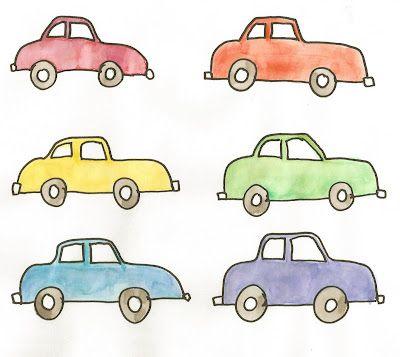 Preschool Car Bingo- watch for car colors