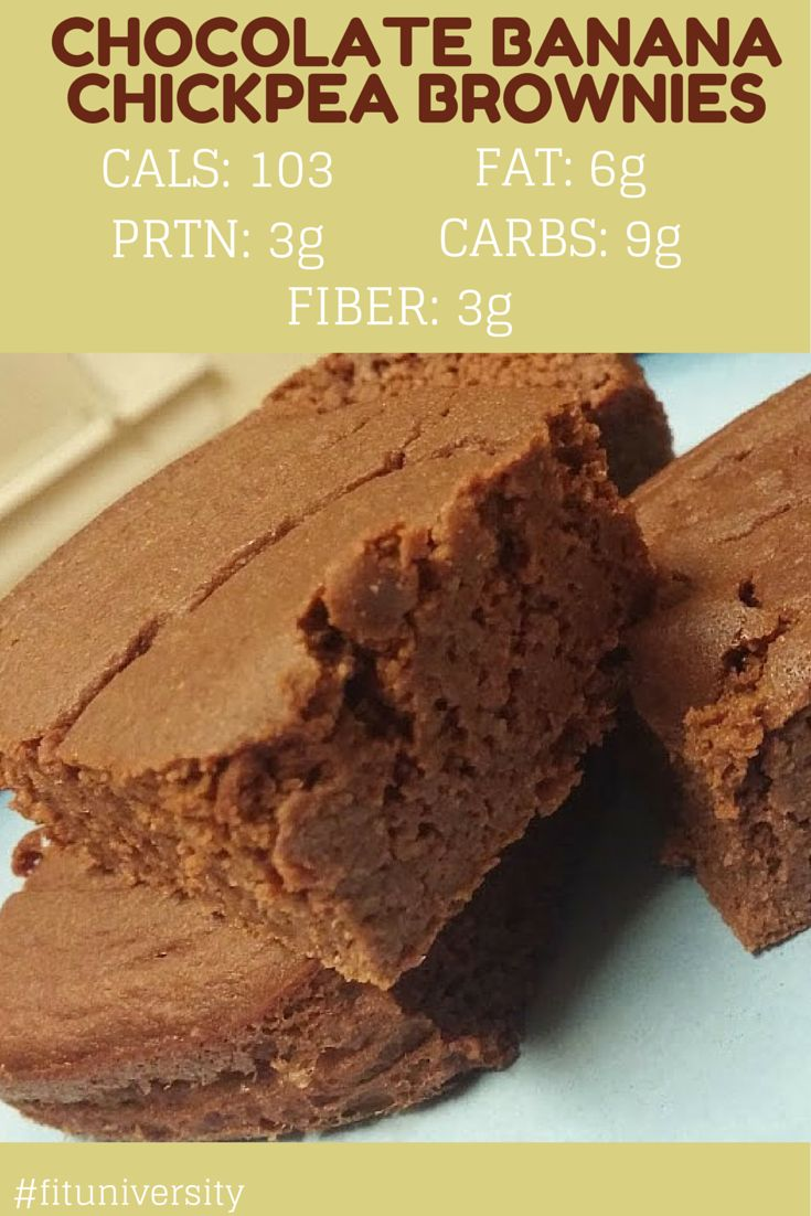 Chocolate Banana Chickpea Brownies   Fit University