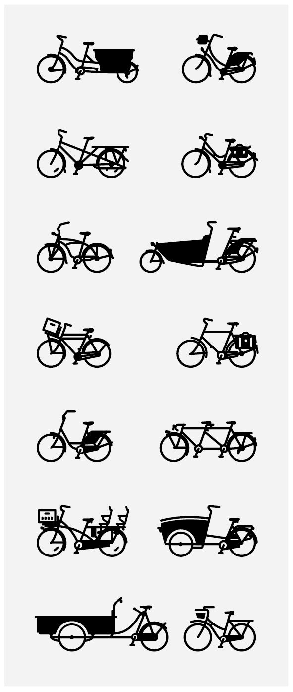 Illustrated Bicycles by mkn design - Michael Nÿkamp, via Behance
