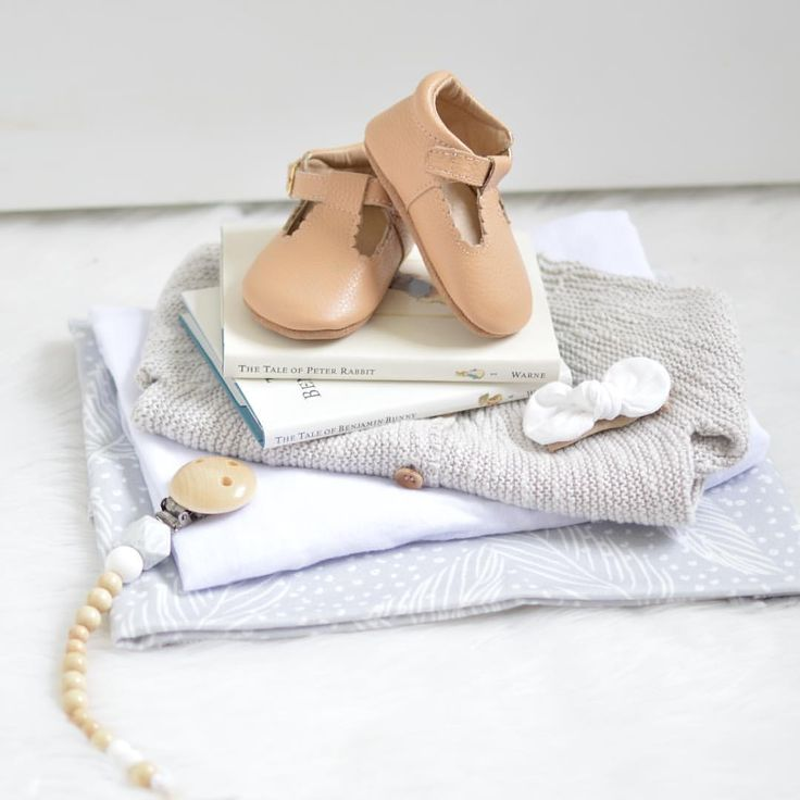 Nude leather t-bars from Sadie Baby