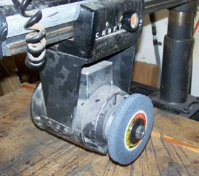Using a radial arm saw as a grinder