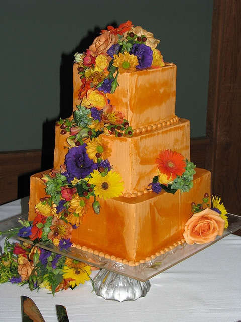 Orange Wedding Cake by Sweet Confections Cakes, via Flickr