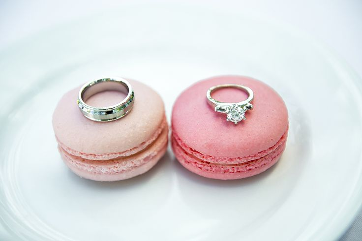 Two of our favorite things. Diamonds and macarons. #disneywedding
