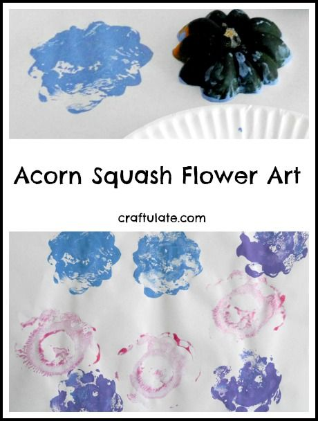 Acorn Squash Flower Art - a fun printing activity for kids!