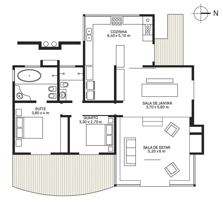 Plantas de casas pequenas e bonitas 22 modelos gr tis - Reformas casas pequenas ...