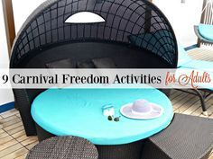 On our recent Western Caribbean cruise, we found lots of Carnival Freedom activities to do as adults. Great places to enjoy quiet, relax or even party!