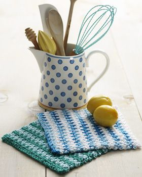 Basic Striped Dishcloth (crochet)