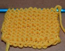 garter stitch - © Sarah E. White, licensed to About.com, Inc.