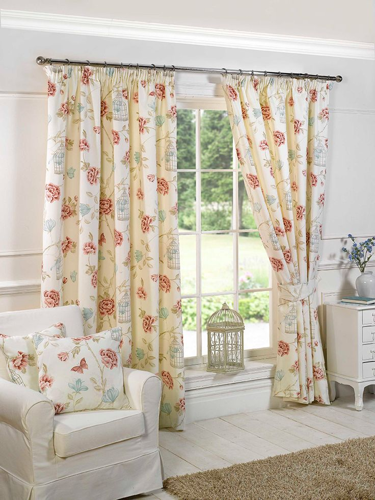 Charlotte Natural Pencil Pleat Curtains