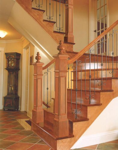 Best Wrought Iron Stair Balusters Black Knuckle Iron 3 8 X 6 640 x 480