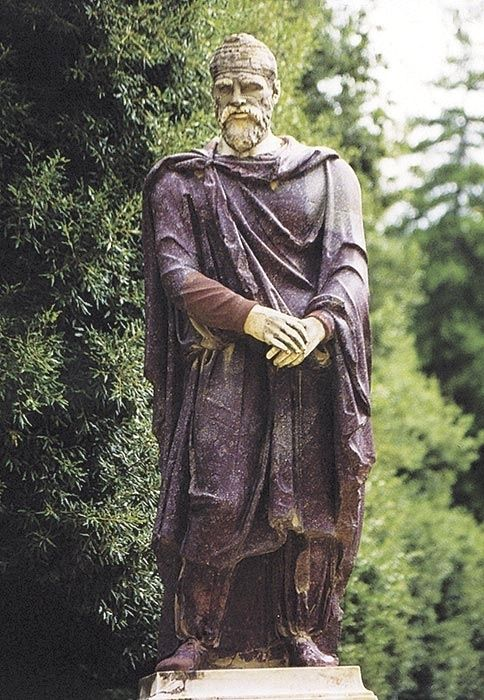 dacian man statue ancient south eastern people