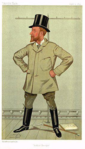 Vanity Fair SPY Characterture - AUTHOR-MANAGER (HENRY ARTHUR JONES) - Chromolithograph - 1895