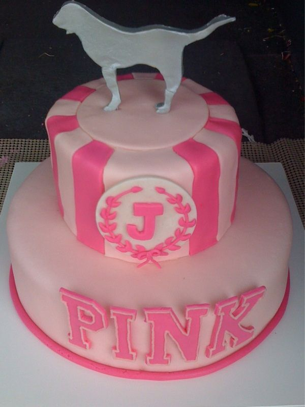 PINK by Victoria's Secret cake by Cakes by AmyBeth. Let them eat PINK cake!
